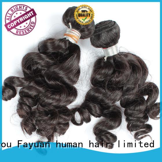 Fayuan virgin raw indian hair manufacturer for street