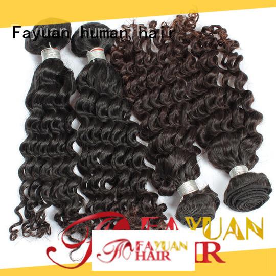 Fayuan grade cheap malaysian curly hair bundles company for women