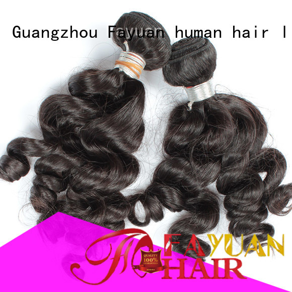Fayuan wave indian human hair price factory for men