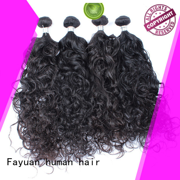 Fayuan High-quality malaysian curly hair with closure for business for barbershopp