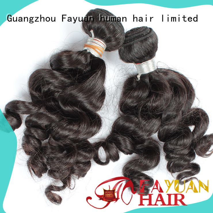 Fayuan virgin indian curly hair extensions for business for selling