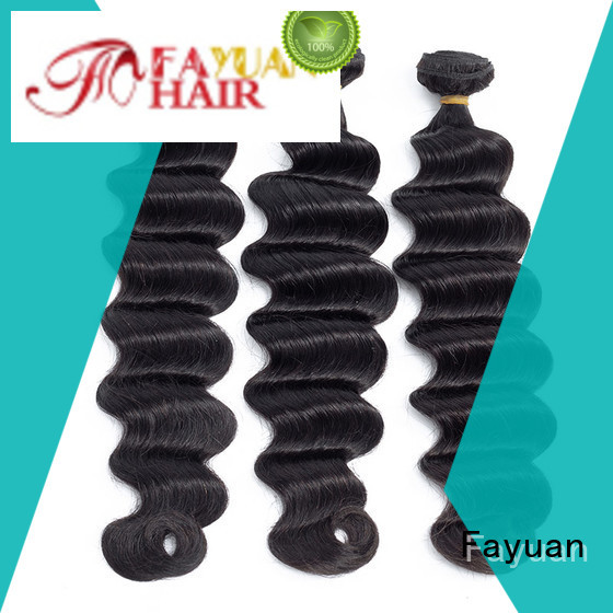 Fayuan grade indian curly hair weave for business for barbershop