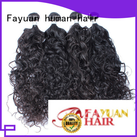Fayuan virgin curly hair extensions manufacturer for street