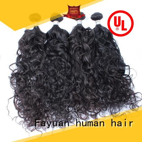 Fayuan curl malaysian wave hair company for barbershopp