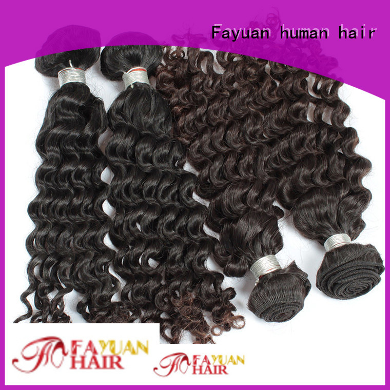Fayuan Best malaysian human hair bundles factory for barbershopp