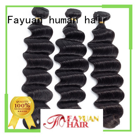 Fayuan wave black hair extensions company for men