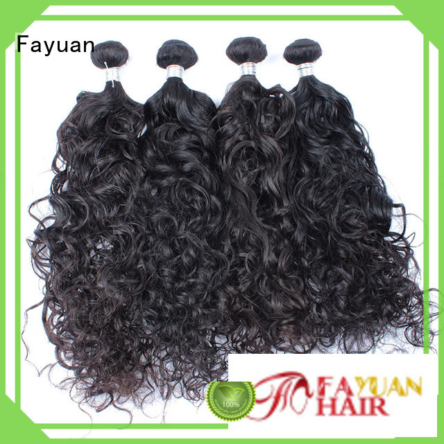 Fayuan malaysian malaysian curly hair bundles Supply for street