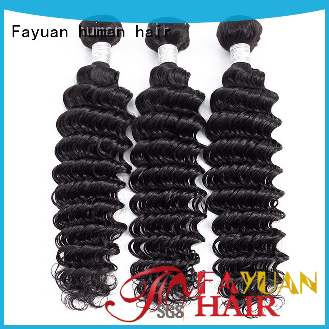 Fayuan curly curly peruvian hair weave manufacturers for women