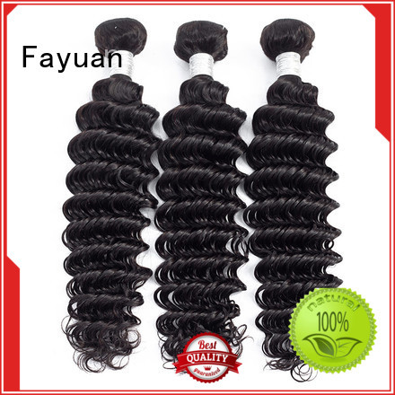 Fayuan curly wavy hair extensions bundles for barbershop