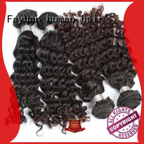 Fayuan human malaysian curly hair with closure Supply for men