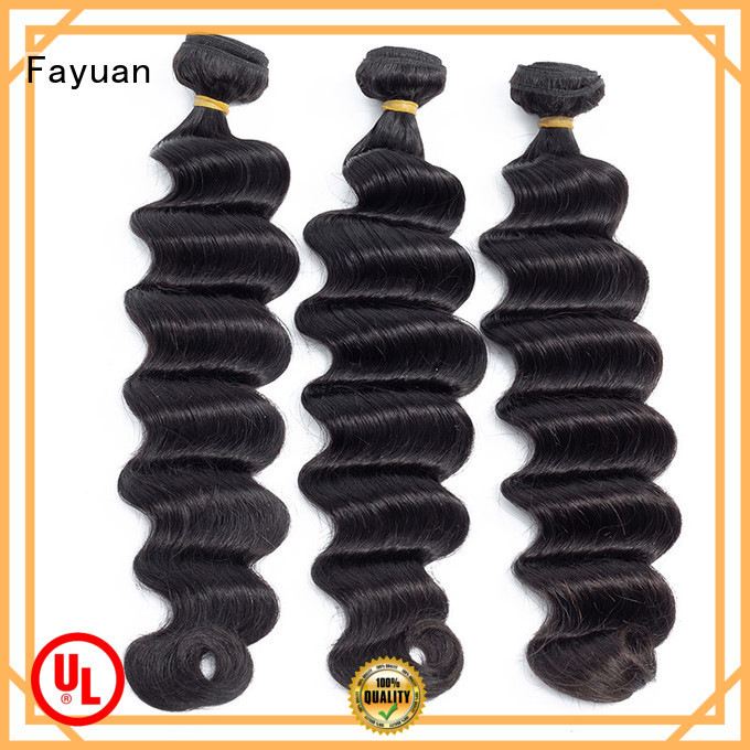 Fayuan virgin raw indian hair weave for barbershop