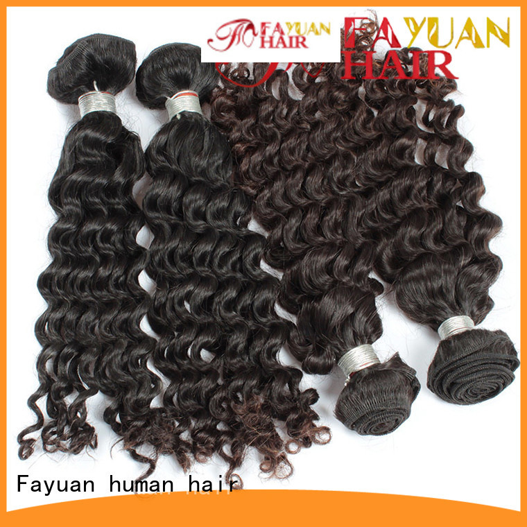 Fayuan Top malaysian curly hair bundles Supply for women