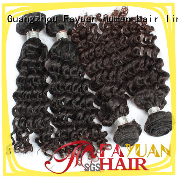 Fayuan Custom malaysian curly hair with closure factory for street
