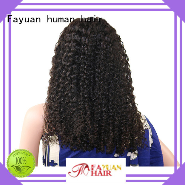 Fayuan curly best cheap lace front wigs company for selling