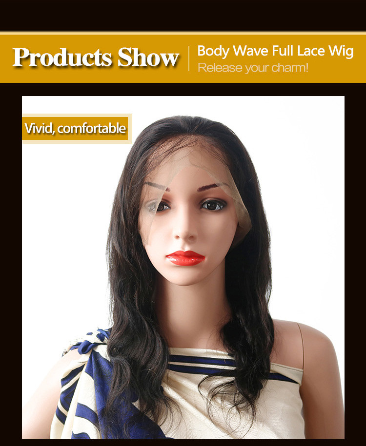 Latest real full lace wigs brazilian factory for men