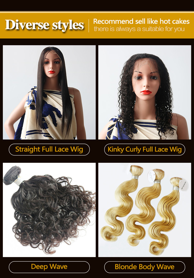 Wholesale Cuticle Aligned Unprocessed Brazilian Hair Virgin Human Hair Full Lace Wigs-10