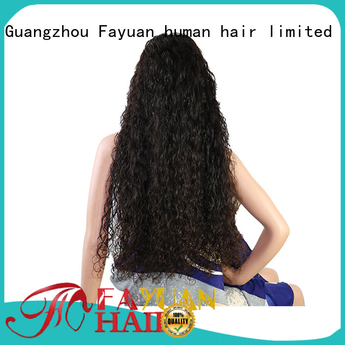 Fayuan wave custom made real hair wigs for business for street