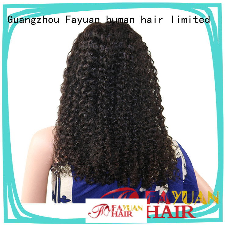 Fayuan curly affordable human lace front wigs Supply for men