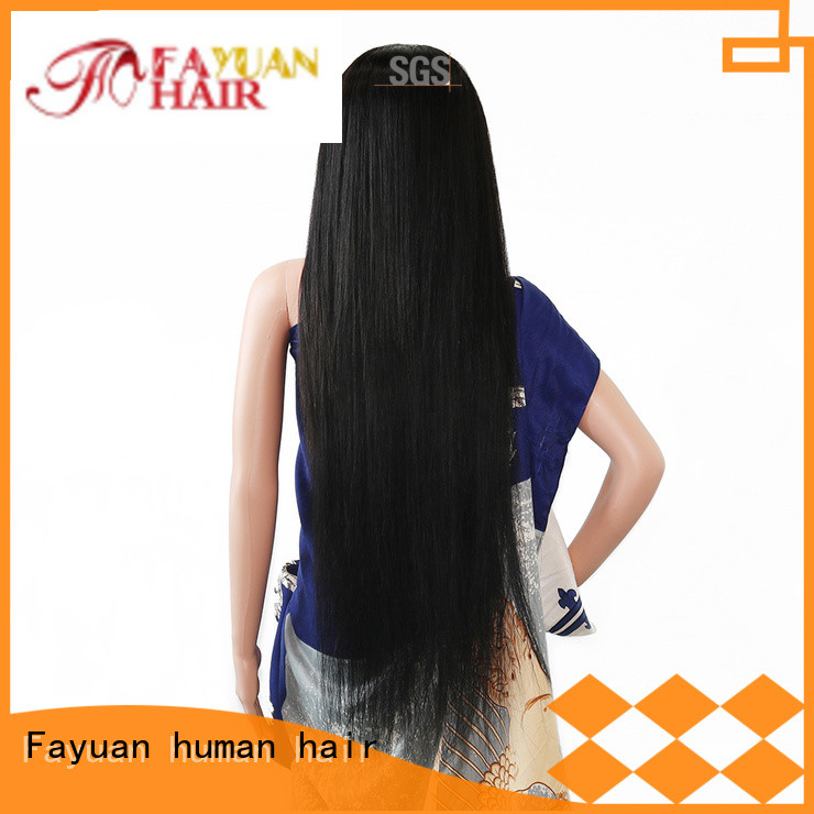 Fayuan price custom made wigs online manufacturers for men