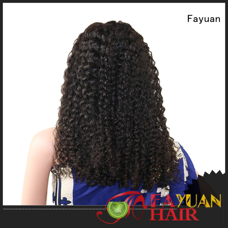 Fayuan New cheap black lace front wigs manufacturers for selling