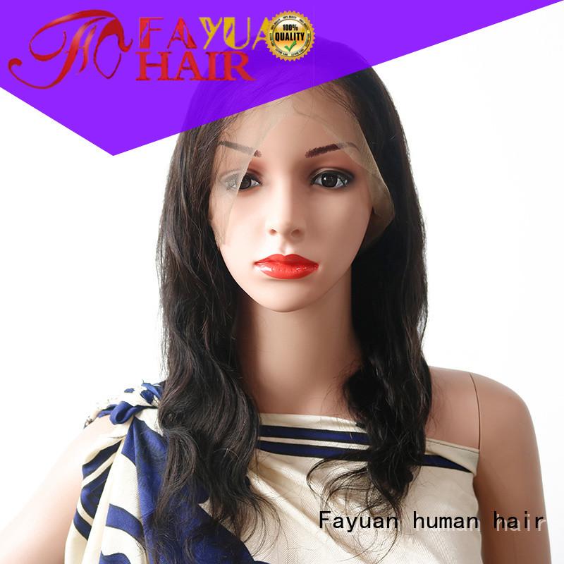 Fayuan black best full lace wigs factory for men