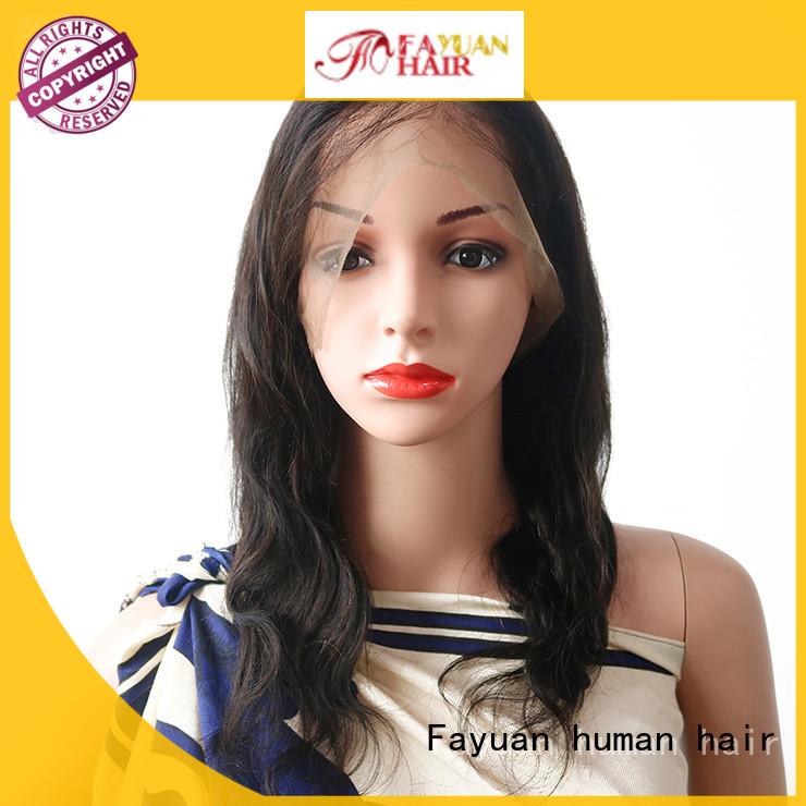 Fayuan grade full lace human hair wigs factory for street