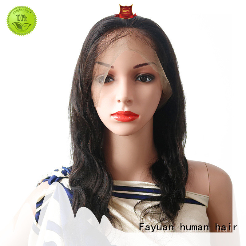 Fayuan cuticle best human lace wigs company for barbershop