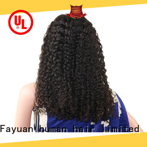 Fayuan curly discount lace front wigs human hair for business for barbershop