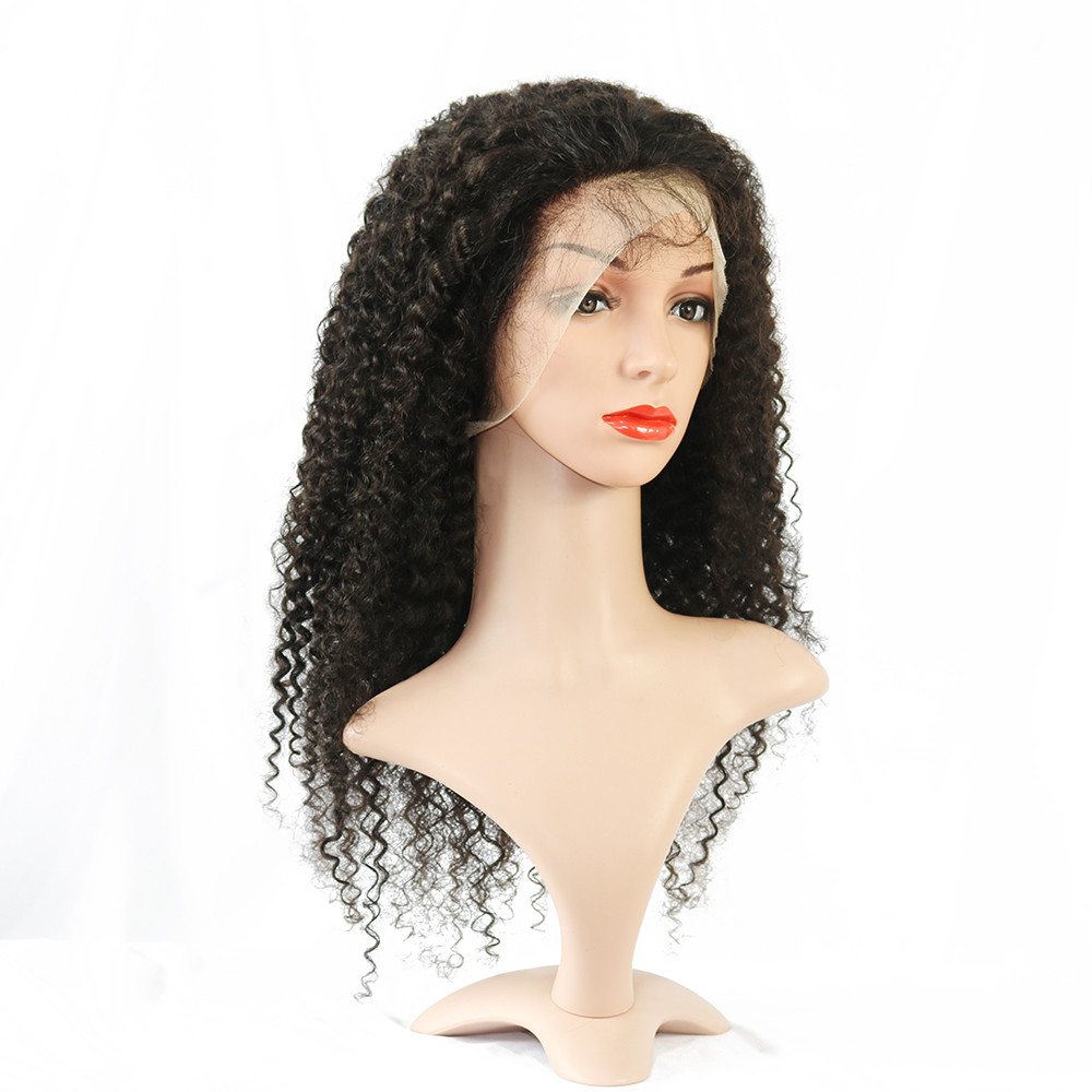 Cambodian Virgin Human Hair Curly Lace Frontal Wig