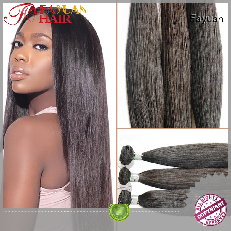 Fayuan unprocessed lace wig with bangs factory for selling